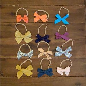 Set of 12 Little Poppy Co Nylon Bows